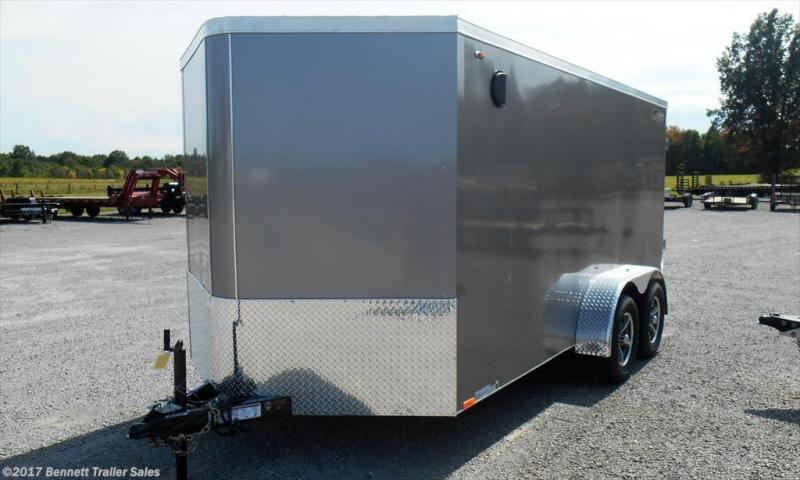2018 Legend Manufacturing 7x16 FTV White Cargo Trailer Enclosed Cargo Trailer