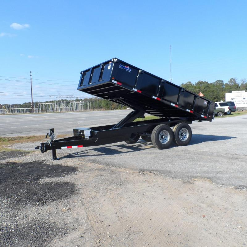 2019 Hawke 8x14 24 high side 14k Deck Over Dump Trailer