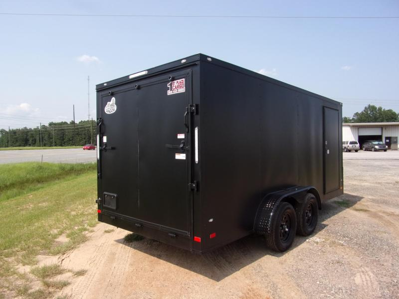 2019 Covered Wagon Trailers 7x16 Blackout ramp door Enclosed Cargo Trailer