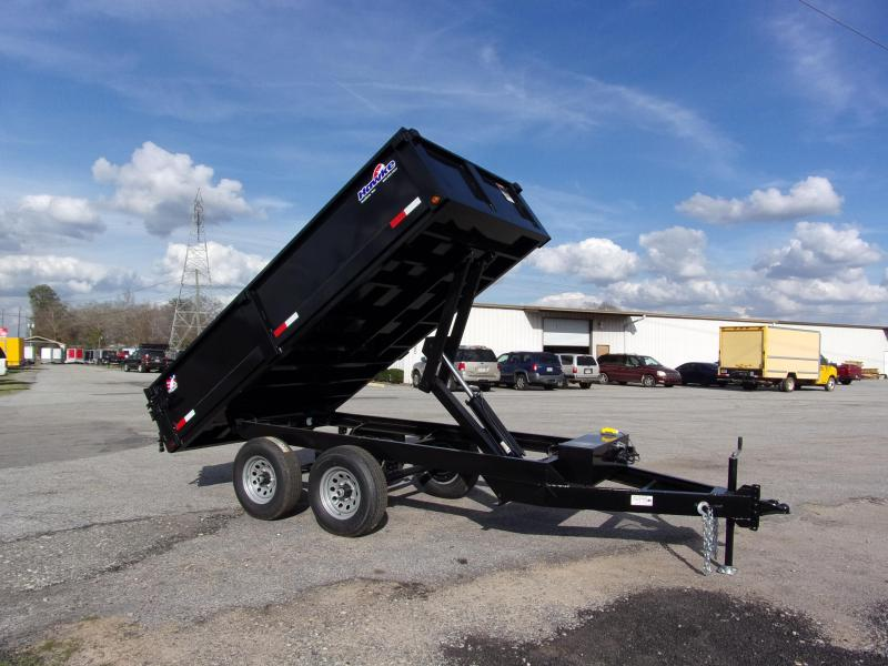 2019 Hawke 6x12 24 high side 10k Deck Over Dump Trailer