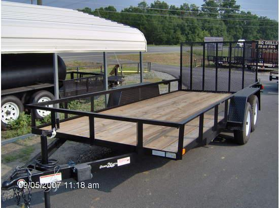 2019 Down 2 Earth Trailers 76x16TA Utility Trailer Tube Rails