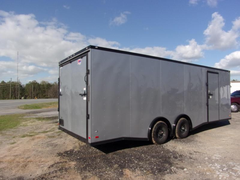 2019 Covered Wagon Trailers 8.5x24  Silver Spread axles ramp door Enclosed Cargo