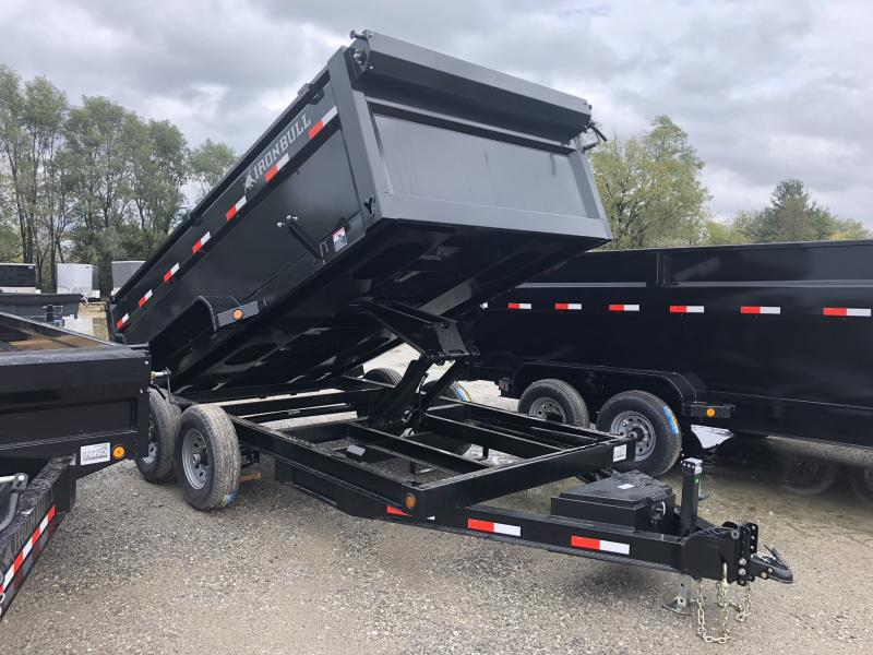 "2019 IRON BULL 83X14 BUMPER DUMP TRAILER WITH 36"" SIDES"