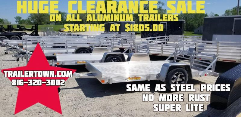 2019 BEAR TRACK 76 X 10 ALL ALUMINUM UTILITY TRAILER