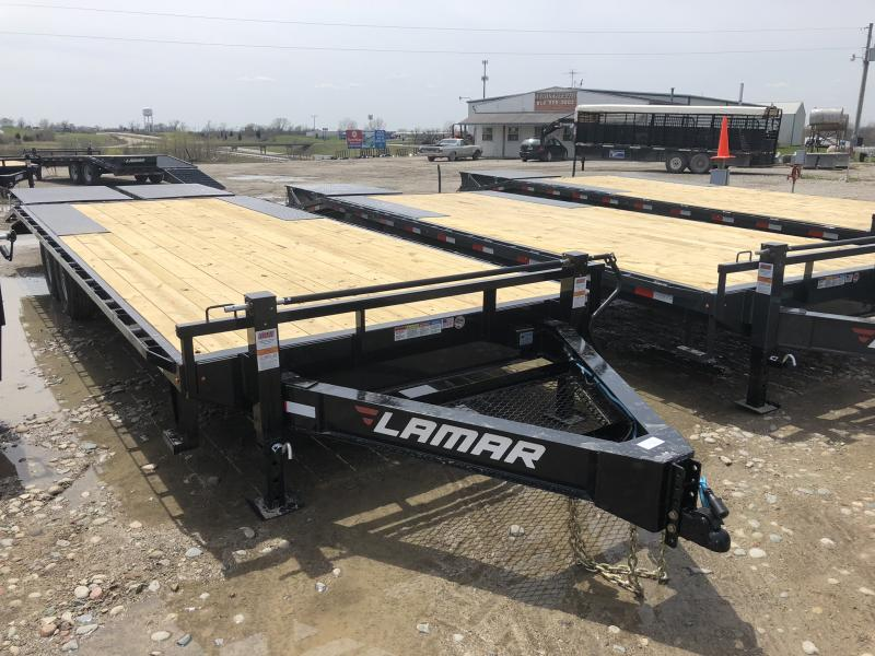 2018 LAMAR 102 X 24 DECKOVER FLATBED EQUIPMENT HAULER TRAILER