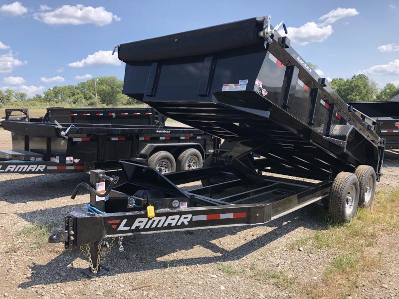 2018 LAMAR TRAILERS 83X16 LOPRO BUMPER DUMP TRAILER