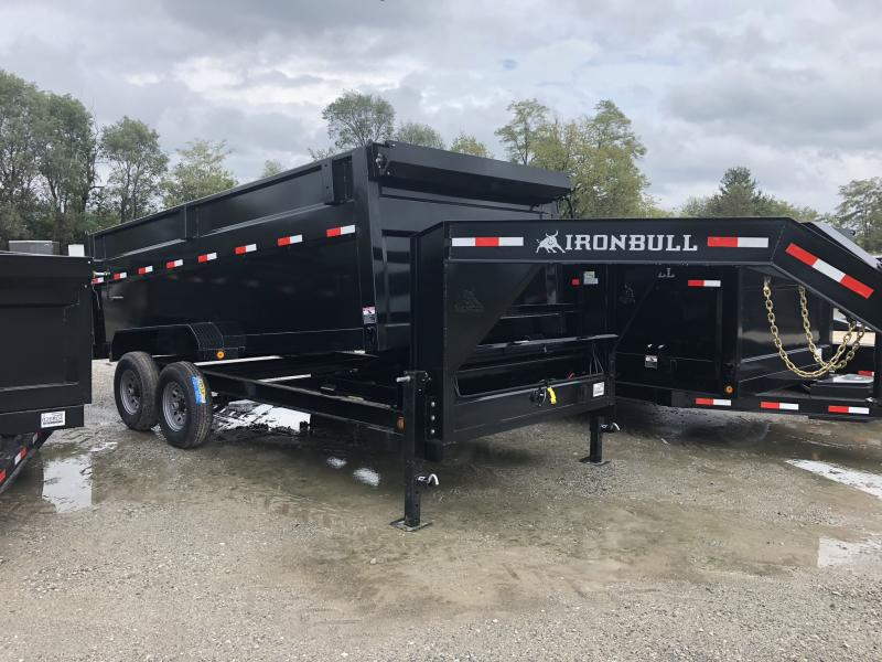 "2019 IRON BULL 83x16 GOOSENECK DUMP TRAILER WITH 48"" SIDES"