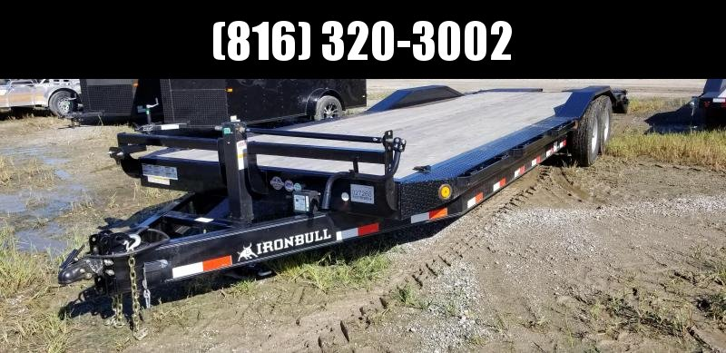 2019 IRON BULL 102 X 28 EQUIPMENT HAULER TRAILER WITH DRIVE OVER FENDERS