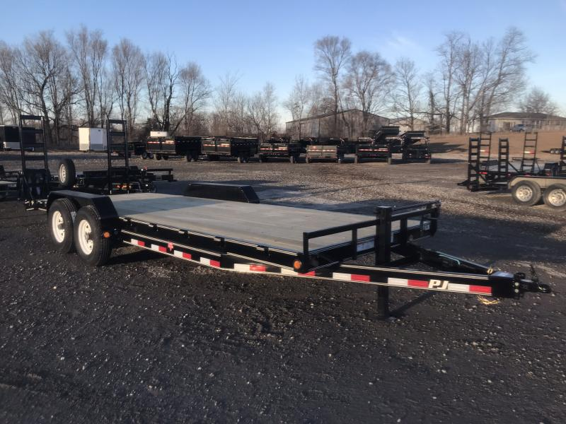 2018 PJ TRAILERS 83X22 EQUIPMENT HAULER TRAILER