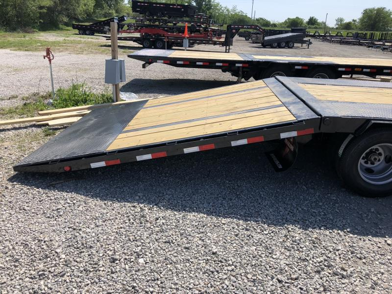 2018 PJ TRAILERS 102X34 GOOSENECK LO PRO DECK OVER FLATBED TRAILER WITH HYDRAULIC DOVE TAIL