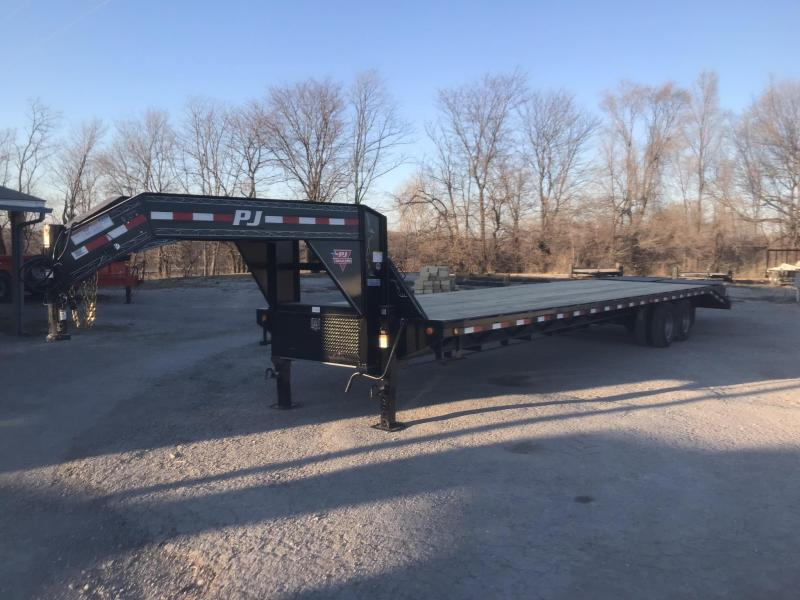 2018 PJ TRAILERS 102X36 GOOSENECK DECK OVER FLATBED TRAILER WITH 12000 LB AXLES AND DISK BRAKES