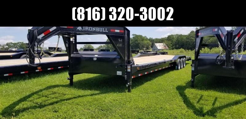 2019 IRON BULL 102 X 40 GOOSENECK DRIVE OVER FENDERS EQUIPMENT HAULER TRAILER