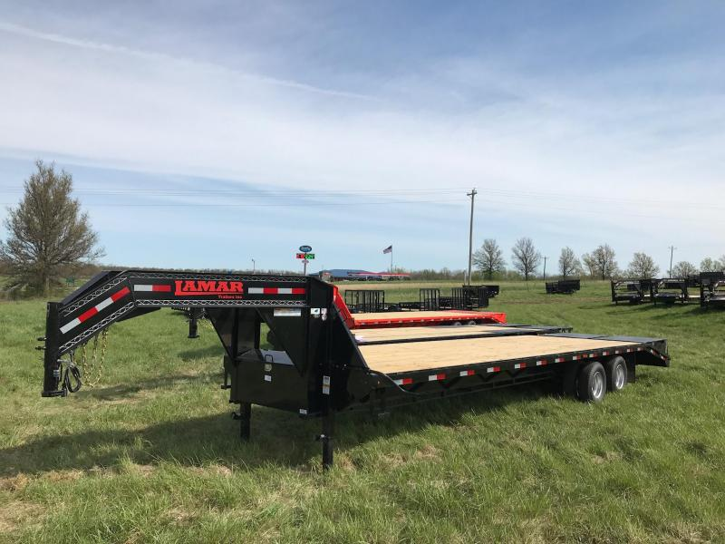 2017 LAMAR TRAILERS 102x32 GOOSENECK DECK OVER TRAILER