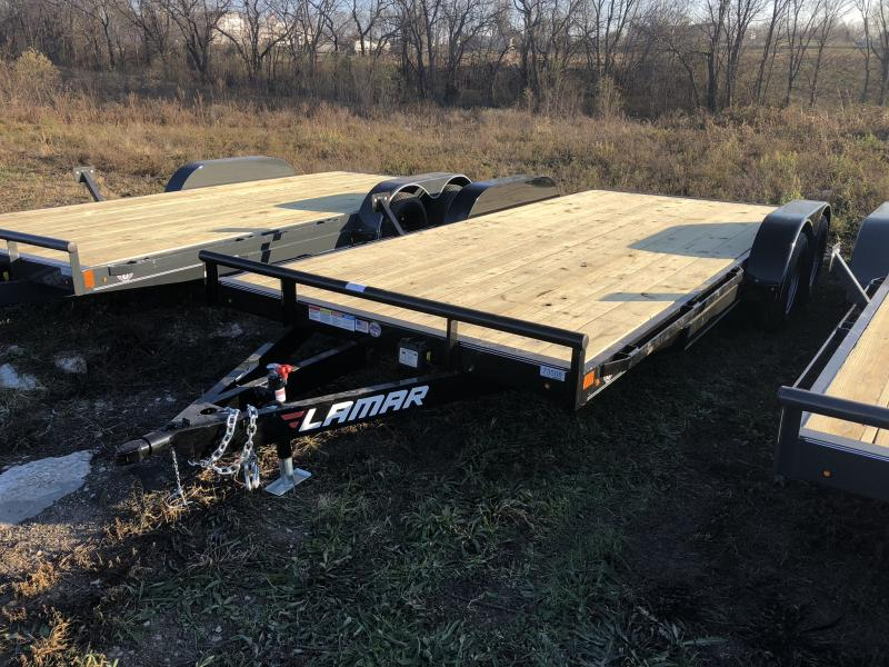 2019 LAMAR 83 x 18 EQUIPMENT HAULER TRAILER