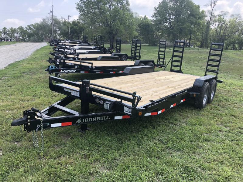 2018 IRON BULL 81X20 EQUIPMENT HAULER TRAILER WITH HEAVY DUTY AXLES