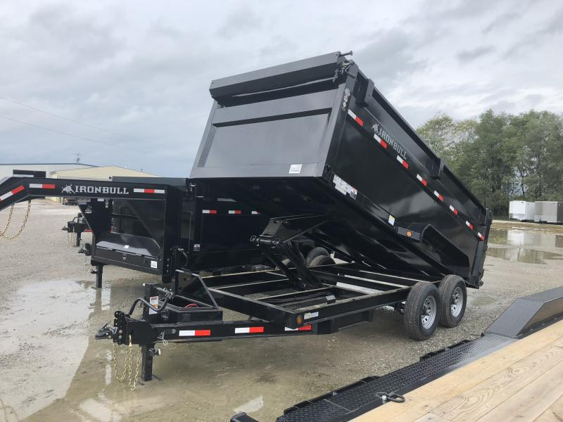 "2019 IRON BULL 83x16 DUMP TRAILER WITH 48"" SIDES"