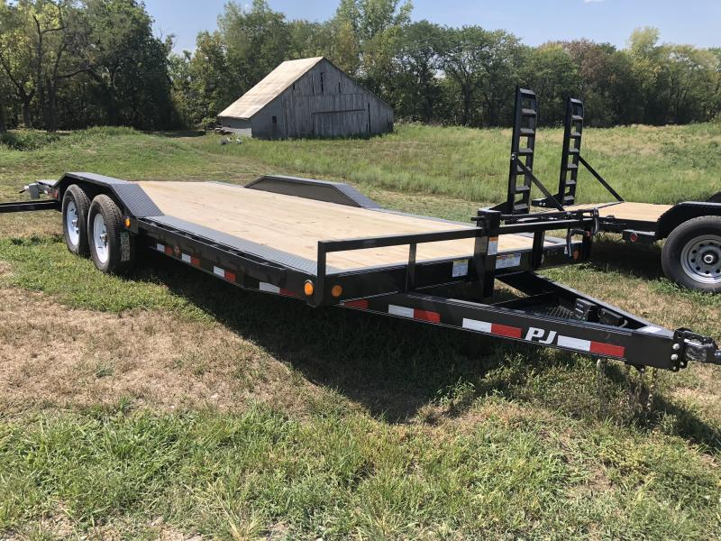 2018 PJ TRAILERS 102X20 SUPER-WIDE EQUIPMENT HAULER TRAILER