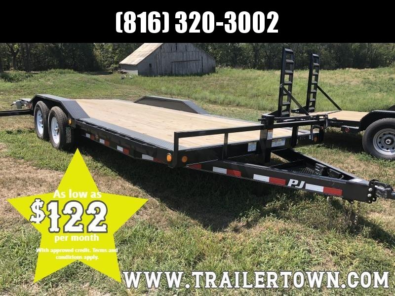 2019 PJ TRAILERS 102X20 EQUIPMENT HAULER TRAILER WITH DRIVE OVER FENDERS