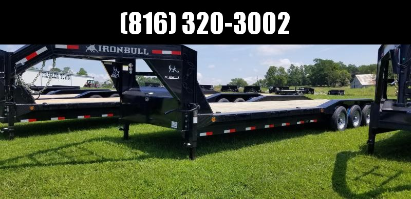 2019 IRON BULL 102 X 32 GOOSENECK DRIVE OVER FENDERS EQUIPMENT HAULER TRAILER