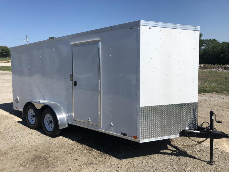 CARGO SALE!!  2018 UNITED 7 X 16 X 6 ENCLOSED CARGO TRAILER
