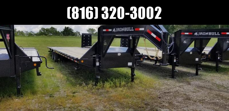 2019 IRON BULL 102X36 GOOSENECK LOPRO DECK OVER FLAT BED TRAILER