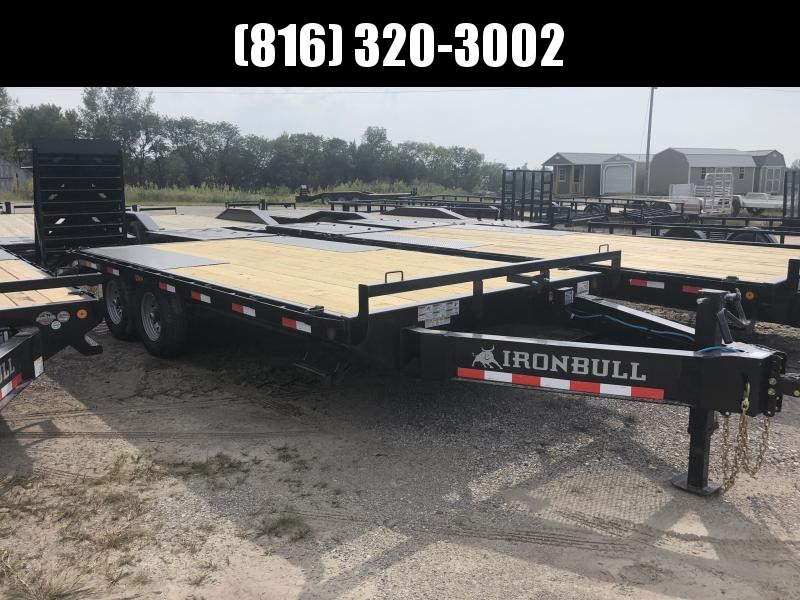2020 IRON BULL 102X20 DECKOVER PINTLE EQUIPMENT HAULER TRAILER