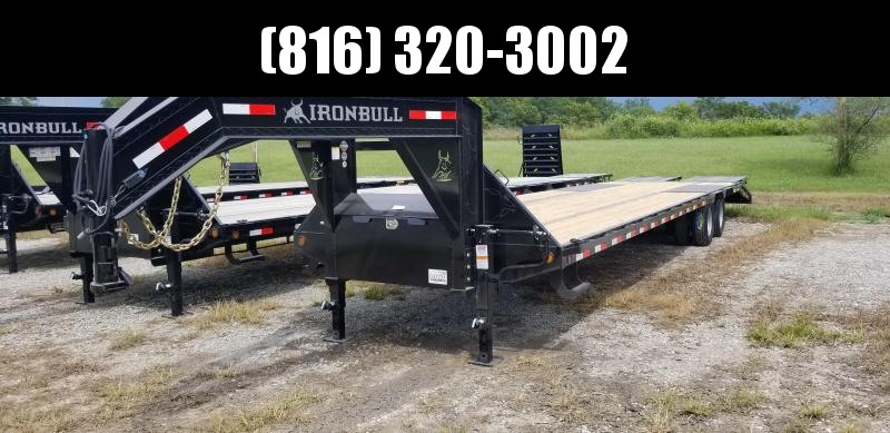2020 IRON BULL 102x36 GOOSENECK DECKOVER LOPRO EQUIPMENT HAULER TRAILER