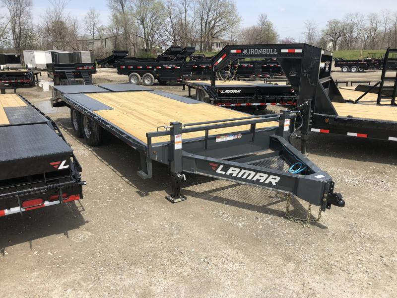 2018 LAMAR 102 X 20 DECKOVER FLATBED EQUIPMENT HAULER TRAILER