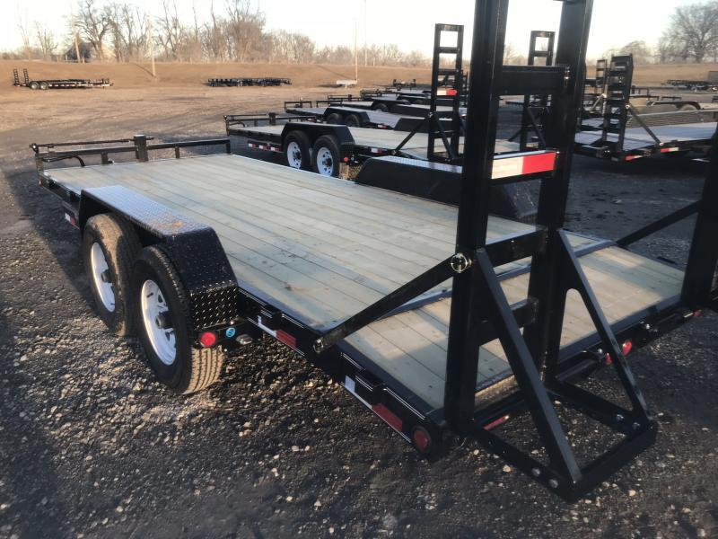 2018 PJ TRAILERS 83X18 EQUIPMENT HAULER TRAILER