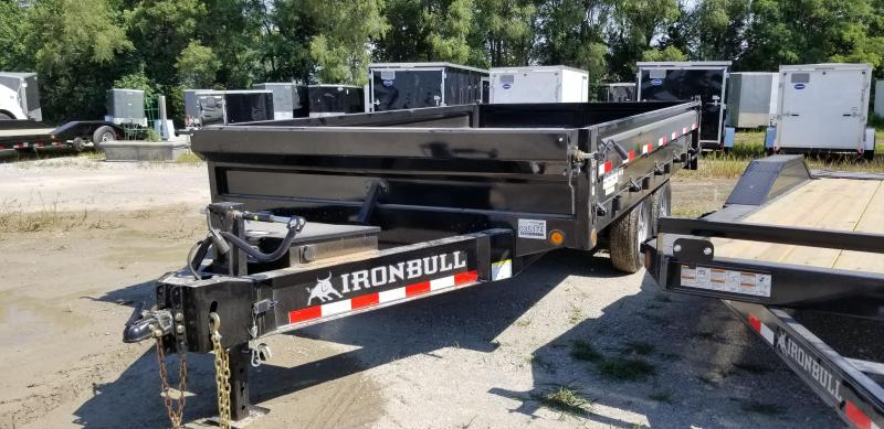 2019 IRON BULL 96X14 BUMPER DUMP DECK OVER TRAILER