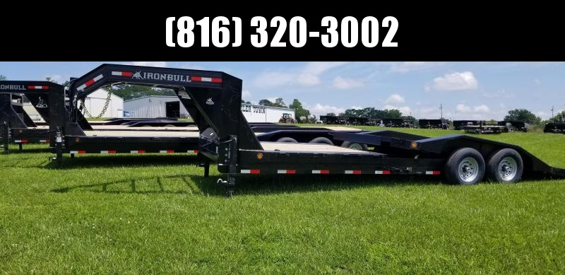 2019 IRON BULL 102x24 GOOSENECK TILT LOPRO EQUIPMENT HAULER TRAILER