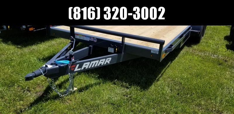 2019 LAMAR 83X18 EQUIPMENT HAULER TRAILER