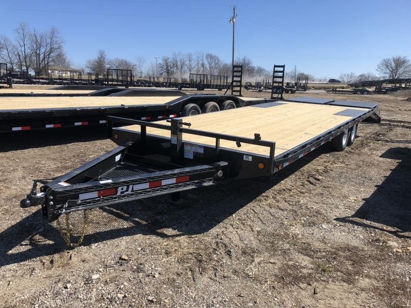 2018 PJ TRAILERS 102X26 BUMPER DECK OVER FLATBED TRAILER