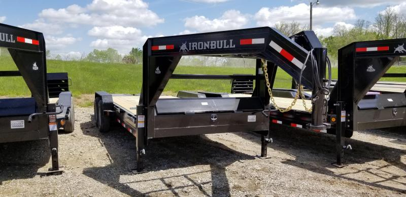 2019 IRON BULL 83 X 20 Gooseneck Equipment Trailer