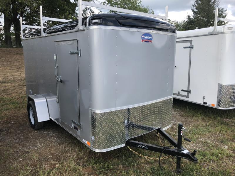 2018 UNITED 6 X 12 X 6 ENCLOSED CARGO TRAILER WITH LADDER RACKS