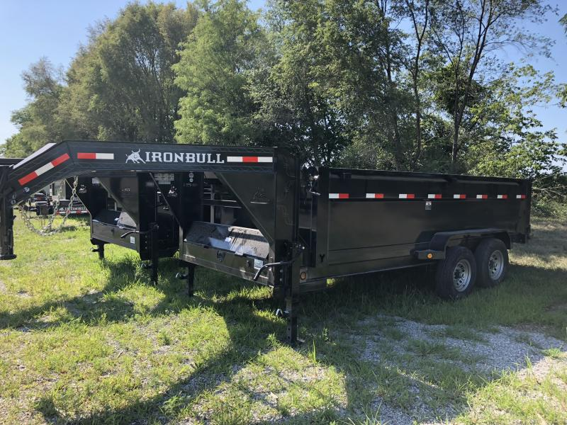 "2018 IRON BULL 83x16 GOOSENECK DUMP TRAILER WITH 36"" SIDES"