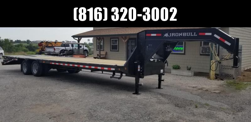 2020 IRON BULL 102x30 GOOSENECK DECKOVER LOPRO EQUIPMENT HAULER TRAILER