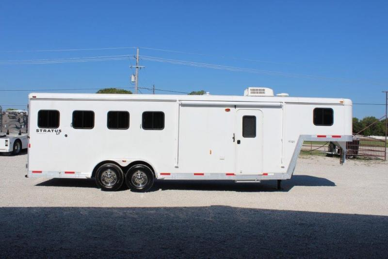 2012 Bison 4 horse with 6' Living Quarter