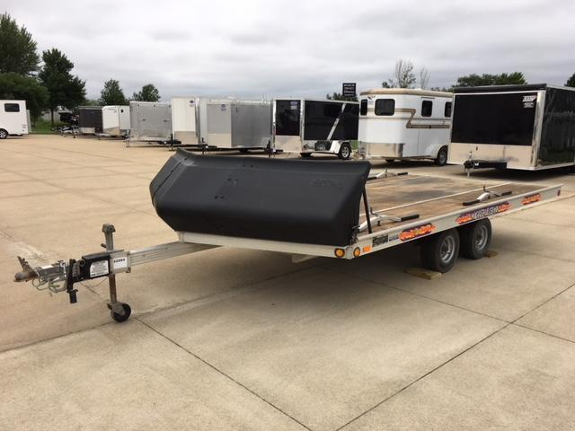 1998 Newman 8.5x14 SLED BED Snowmobile Trailer