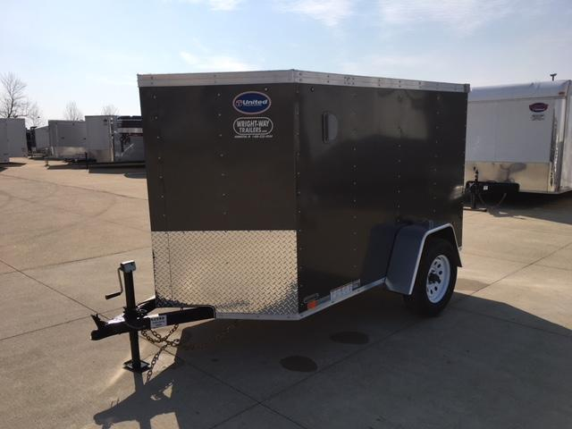 "2019 United  XLV 5' X 8' + 24"" V-NOSE CARGO TRAILER"