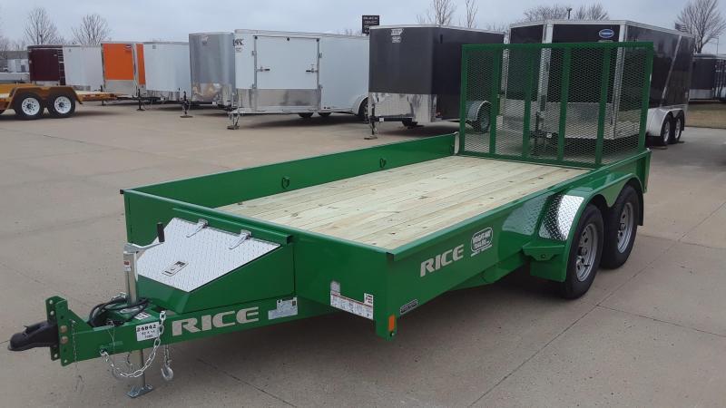 2020 Rice 14' Utility Trailer