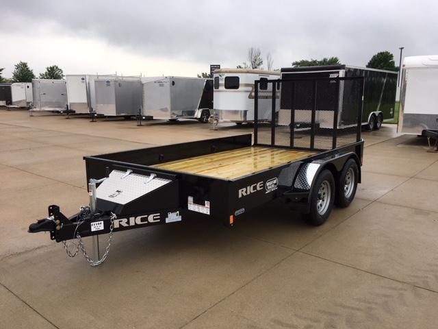 2018 Rice 82 x 12 Tandem Axle Utility Trailer