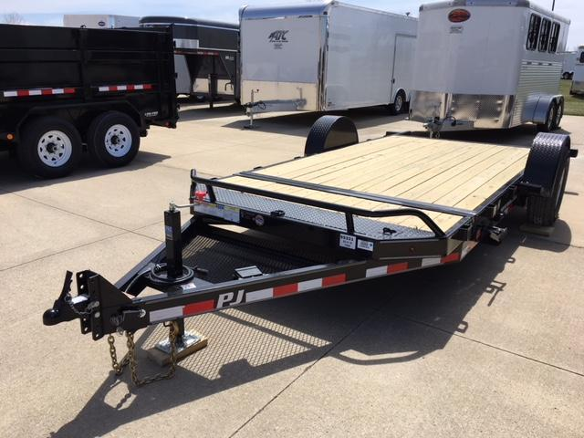 2019 PJ 16' Tilt Single Axle Equipment Trailer