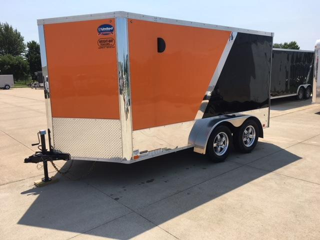 2019 United 7X12 V-Nose Motorcycle Trailer