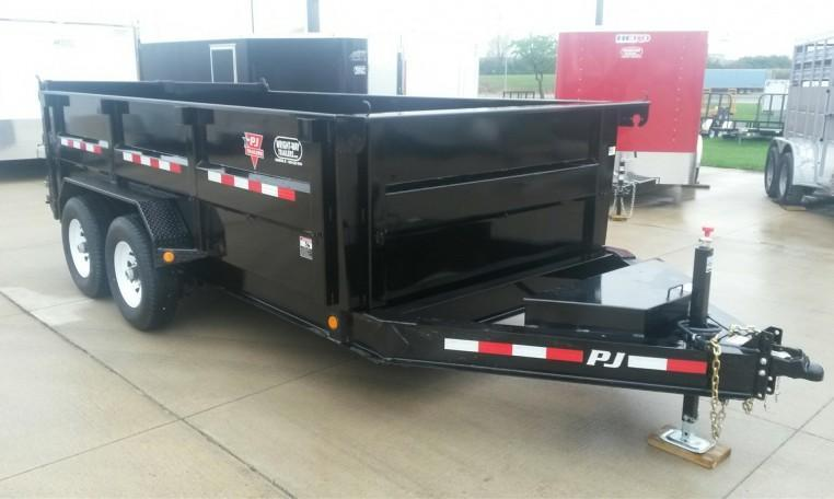 "PJ 83"" x 14' High Side Dump Trailer"