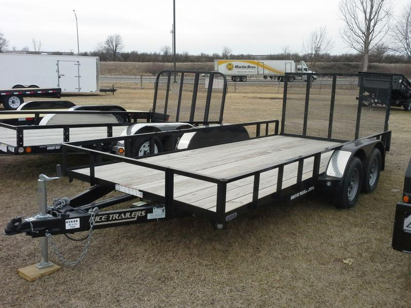 "RICE 6'10"" X 16' TANDEM AXLE UTILITY TRAILER"