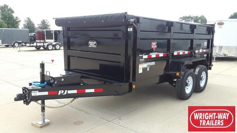 PJ 14' Dump Trailer High Side