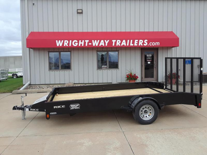 2019 Rice 14' Steel Utility Trailer