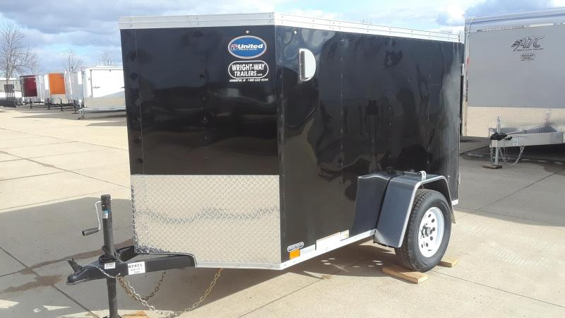 2019 United 5X8 V Nose Enclosed Cargo Trailer
