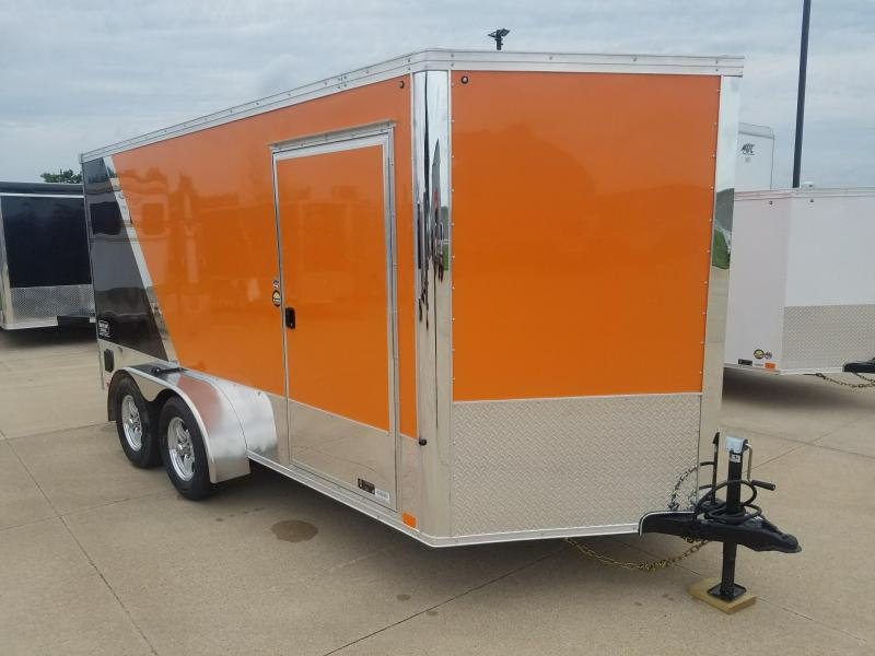 2019 United Trailers 7X14 V-Nose Motorcycle Trailer